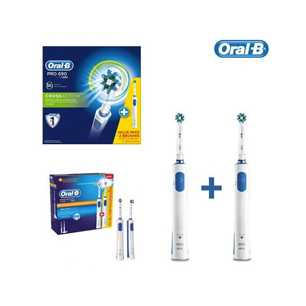 pack d o pro 600 2 cepillos oral b duo690. Black Bedroom Furniture Sets. Home Design Ideas
