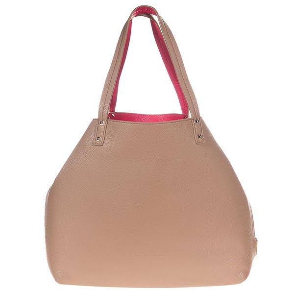 35x32x12cm Bolso handbag reversible Elle - camel/fucsia